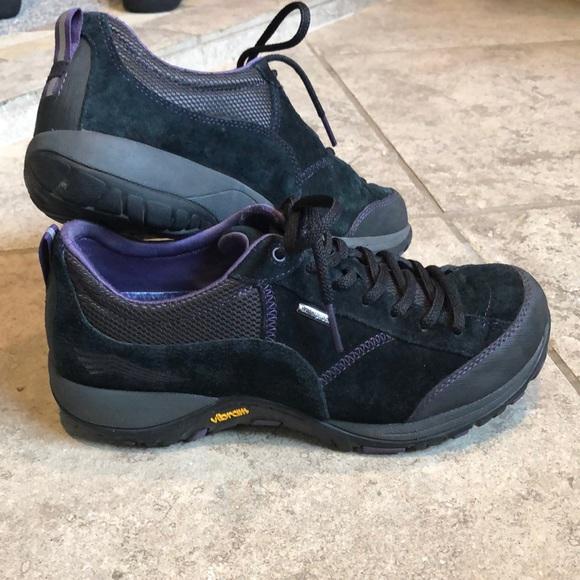 Dansko Paisley Black Suede Shoes
